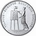 1 litas coin - Vilnius-European Capital of Culture (2009) Reversum.jpg