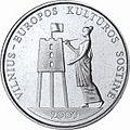 1 litas coin - Vilnius-European Capital of Culture (2009) Reversum.jpg