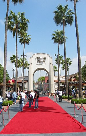 Gate to Universal Studios, Hollywood.