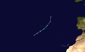 2005 Azores subtropical storm - Image: 2005 Atlantic subtropical storm 19 track