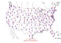 2006-01-20 Max-min Temperature Map NOAA.png