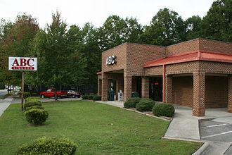 Alcoholic beverage control state - ABC Store in Durham, North Carolina.