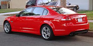 """Pontiac G8 - 2008 Pontiac G8 """"base""""."""