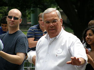 Mayor Tom Menino at the Boston Pride Parade
