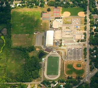 Wayzata Public Schools - Aerial photo of Wayzata Central Middle School Campus.