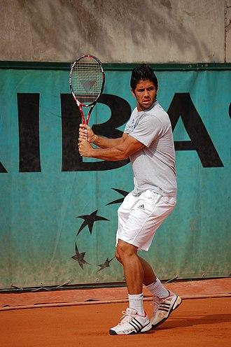 Fernando Verdasco - Verdasco training ahead of the 2009 French Open