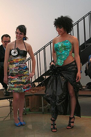 Trashion - The 2009 Fashion Trashion show at the University of Minnesota, Morris featured outfits created from trash and recycled materials