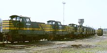 2010-04-17 SNCB rake of HLZ 73 belgian shunters stored after retirement at Stockem lokshop.jpg
