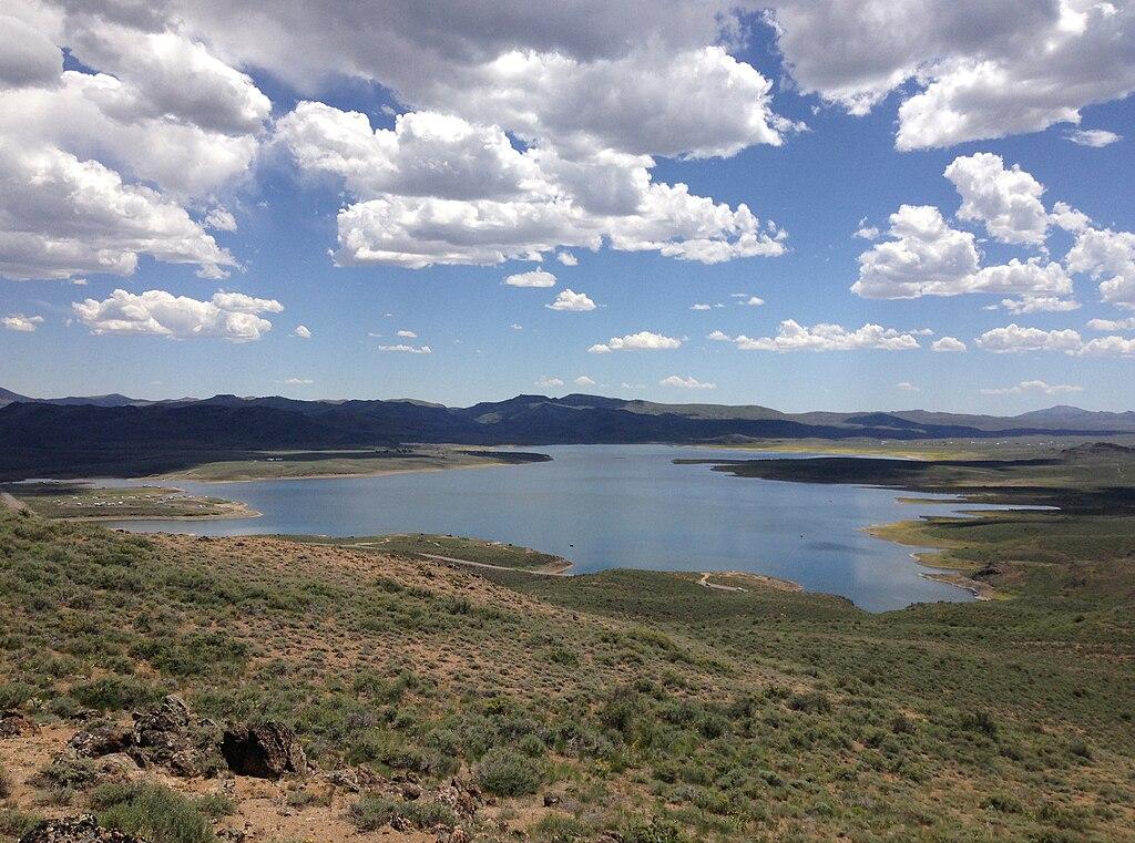 2013-06-16 12 46 26 View southeast across Wild Horse Reservoir in Nevada