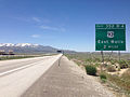 2014-06-11 12 40 44 Sign two miles ahead of Exit 352B-A along westbound Interstate 80 and northbound Alternate U.S. Route 93 in Wells, Nevada.JPG