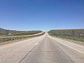 2014-06-11 13 07 04 View west along Interstate 80 from around milepost 350 in Wells, Nevada.JPG