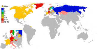 2014 IIHF World Championship - Participants and their results