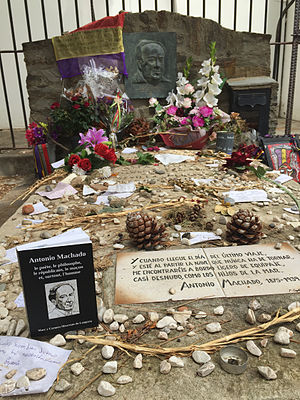 Antonio Machado - Machado's grave at Collioure cemetery