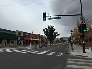 Nevada State Route 529 - View northbound along US 395 Bus. in downtown Carson City