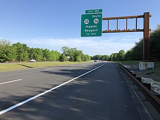 Hazlet, New Jersey - The Garden State Parkway, the largest and busiest highway in Hazlet