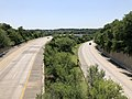 2019-07-25 11 43 48 View south along Interstate 97 from the overpass for eastbound Interstate 695 (Baltimore Beltway) in Linthicum, Anne Arundel County, Maryland.jpg