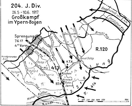 battle of messines 1917 wikiwand  204th division ypernbogen