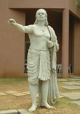 Aryabhata - Statue depicting Aryabhata on the grounds of IUCAA, Pune (although there is no historical record of his appearance).