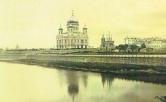 Religion in the Soviet Union - The Cathedral of Christ the Savior in Moscow was demolished by the Soviet authorities in 1931 to make way for the Palace of Soviets. The palace was never finished, and the cathedral was rebuilt in 2000.