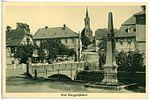 23775-Berggießhübel-1926-Ortsmitte, Postmeilensäule, Kirche-Brück & Sohn Kunstverlag.jpg
