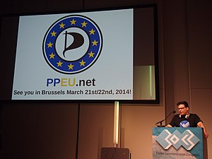 European Pirate Party - German Pirate Jens Stomber presents the PPEU at 30C3