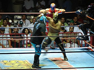 History of professional wrestling - A lucha libre tag team match