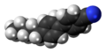 4-Cyano-4'-pentylbiphenyl molecule twisted spacefill.png