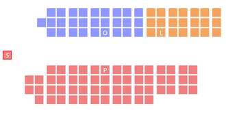 41st Parliament of Ontario - Initial seating arrangement of the 41st Parliament