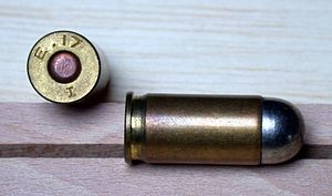 .455 Webley - Image: 455 Webley auto cartridge