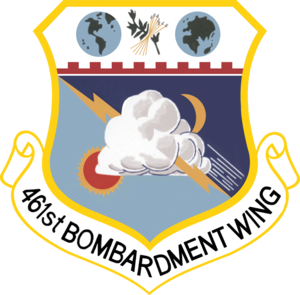 Eaker Air Force Base - Emblem of the 461st Bombardment Wing, 1956–1958