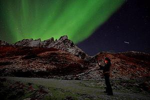 Luca Bracali - Ballstad, Lofoten islands. Under the light of the aurora borealis