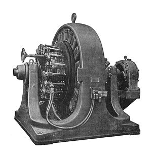 Rotary converter - 1909 500kW Westinghouse rotary converter