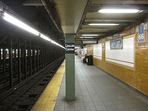 66th Street–Lincoln Center (IRT Broadway–Seventh Avenue Line) - Uptown platform