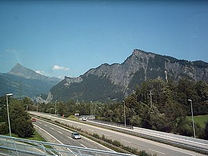 A13 motorway (Switzerland) - The A13 between Sargans and Chur (August 2004)