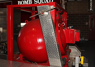 Arlington County Fire Department - The ACFD Bomb containment chamber.