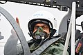 ACM RKS Bhaduring undertaking sortie on Tejas from SQ45 during SQ 18 commissioning ceremony.jpg