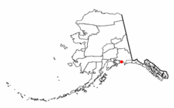 Location of Cordova, Alaska