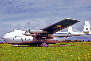 No. 70 Squadron RAF - Armstrong Whitworth Argosy C.1 of 70 Squadron RAF named Horatius in 1971
