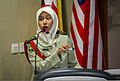 A Bruneian service member with a military legal unit gives an overview of the Military Law Operations Symposium during Cooperation Afloat Readiness and Training (CARAT) 2013 in Brunei Nov. 14, 2013 131114-N-KL795-194.jpg