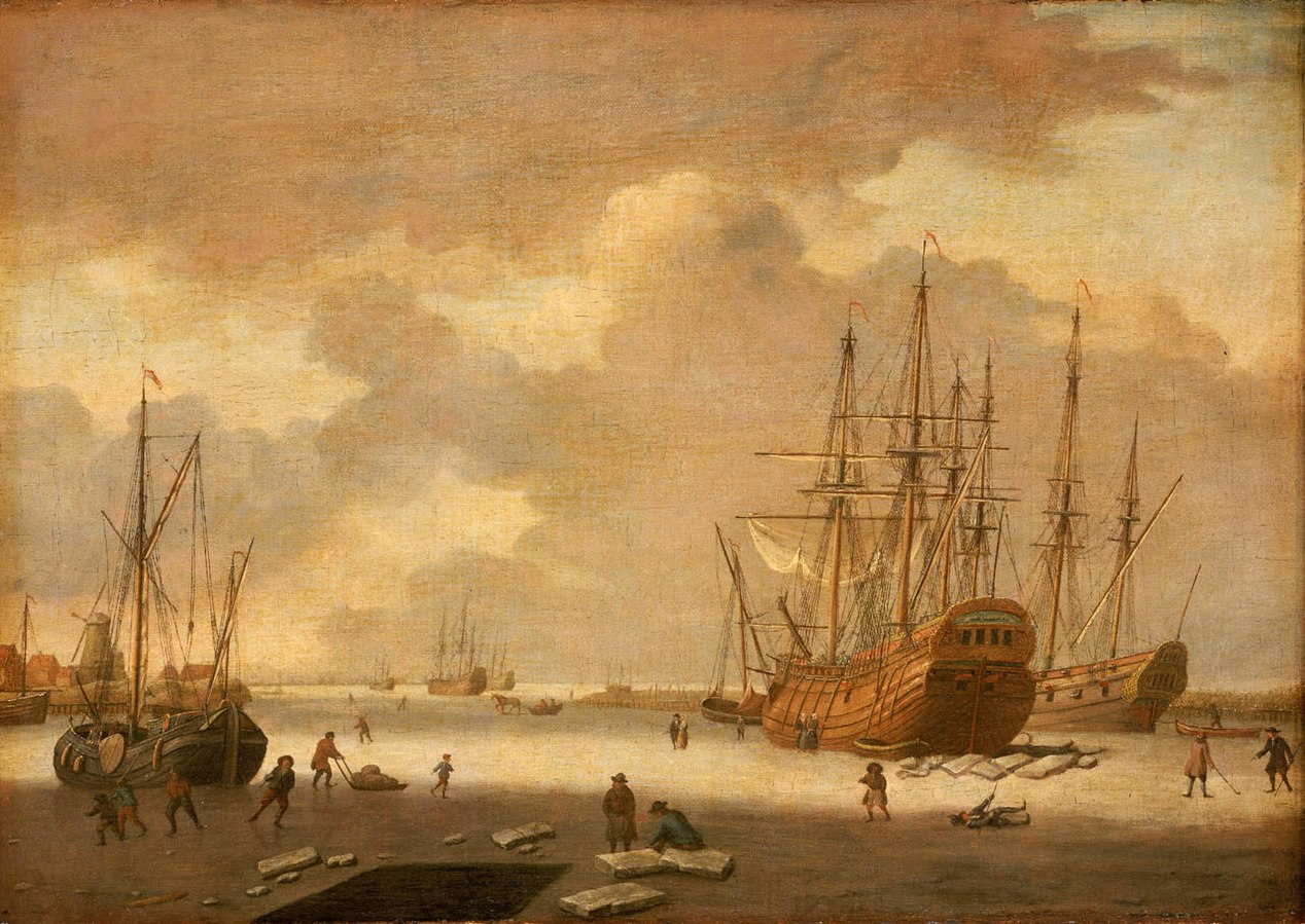 A Dutch Whaler and Other Vessels in the Ice