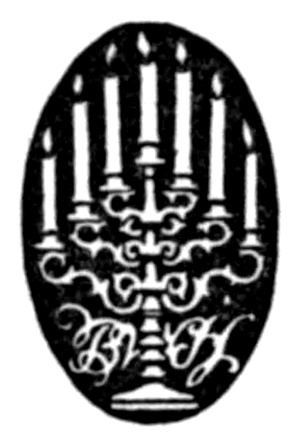 B. W. Huebsch - B.W. Huebsch's publishing logo circa 1916 (from James Joyce's Portrait of the Artist as a Young Man