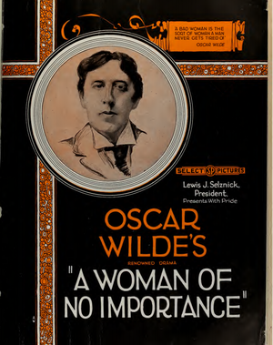 A Woman of No Importance (1921 film) - American ad for film with drawing of Oscar Wilde