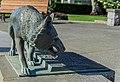 A bronze statue of wolf, Victoria Centennial Fountain, Victoria, British Columbia, Canada 07.jpg