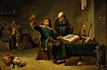 A medical practitioner examining a urine flask. Oil painting Wellcome V0017268.jpg
