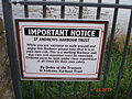 A notice at the St Andrews Harbour.JPG