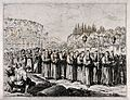 A procession of penitents before the Colosseum in Rome. Etch Wellcome V0035757.jpg