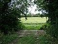 A sleeper bridge into a field near Hampton Magna - geograph.org.uk - 1403536.jpg