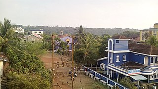 Porvorim Town in Goa, India