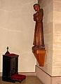 Abbaye Saint-Martin-des-Glandières, chapelle, statue de Saint François d'Assise..jpg