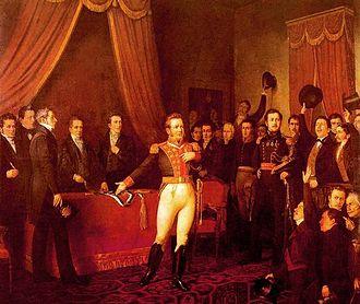 Government Junta of Chile (1823) - Bernardo O'Higgins resigns his position as Supreme Director